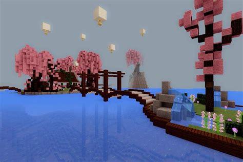 Minecraft Pe Build #8 Cherry Blossom Park  Minecraft Amino