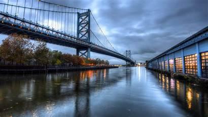 Philadelphia Bridge Above Water Travel Pennsylvania Wallpapers