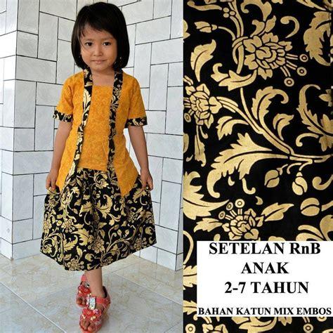 jual setelan rok pendek anak perempuan kebaya batik modern