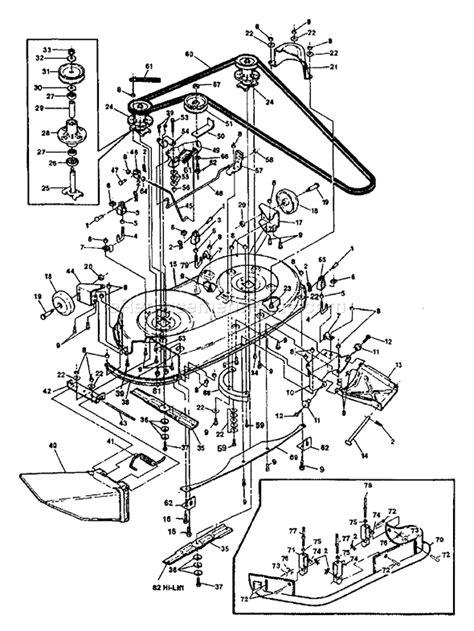 lawn mower lt 1000 craftsman deck parts diagram lawn free engine image for user manual