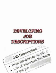Child Care Director Job Descriptions Developing Job Descriptions 8 Hour Training