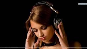 Listening Music in Headphones Wallpaper
