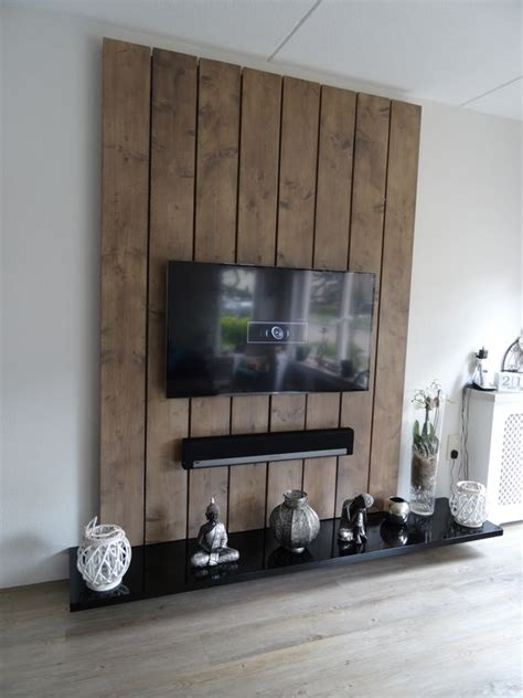 tv wand steigerhout tv wandmeubel gemaakt steigerhout en mdf de