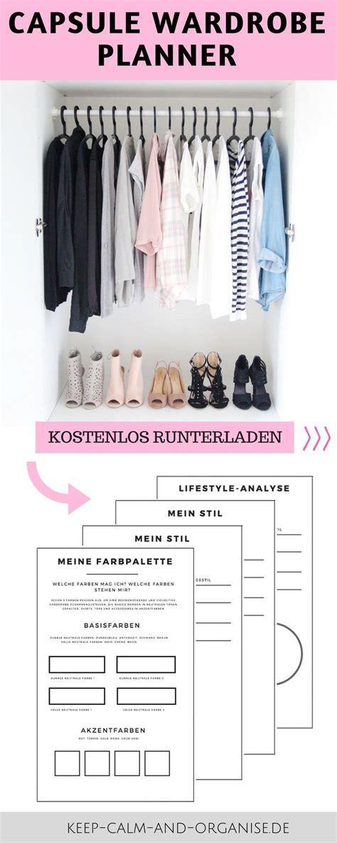 Capsule Wardrobe Planner by Minimalistische Garderobe Capsue Wardrobe Minimalismus