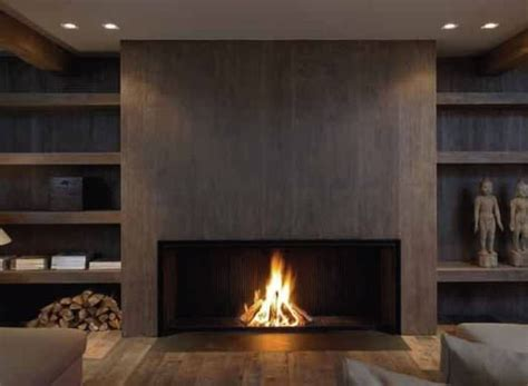 Contemporary Fireplace (woodburning Open Hearth