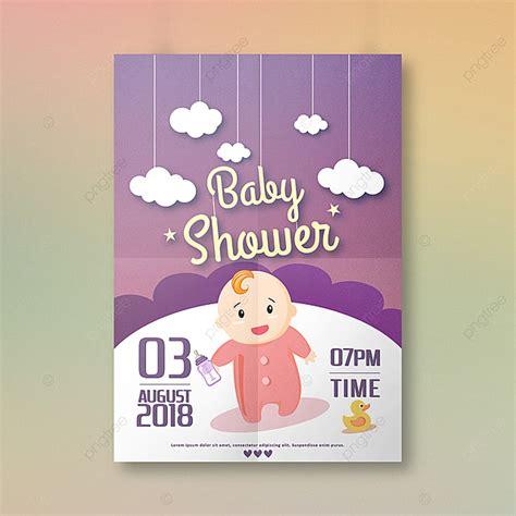 baby shower invitation design template