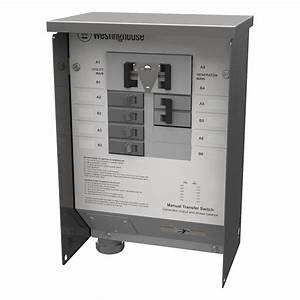 Westinghouse 50-amp Manual Transfer Switch-whmts50