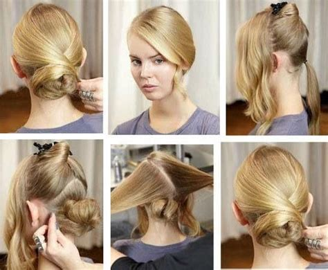 15 Simple And Easy Hairstyles With Useful Tutorials How To Put Your Hair In A Messy Bun Using Doughnut Inverted Bob Hairstyles For Thin Would Scene Look On Me Get Soft Curly Male Colour Ideas Pictures Medium Length Instructions Easy Busy Moms Lighten At Home Without Bleach 2