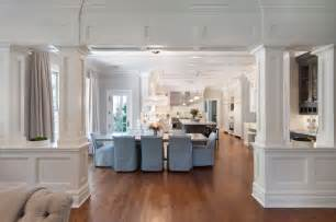 interior home columns interior columns transitional dining room blue water