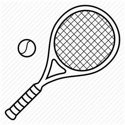 Tennis Racket Ball Drawing Sport Open Racquet