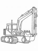 Coloring Backhoe Digger Pages Printable Getcolorings sketch template