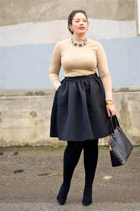 10 Best Plus Size Winter Looks Images On 20 Stunning Skirt Combinations For Plus Size