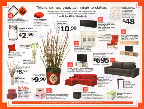 Ikea Lunar New Year Promo Offers 26 Dec 2013