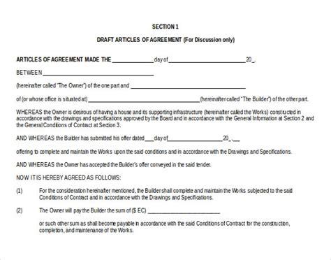 sample contract templates word google docs apple