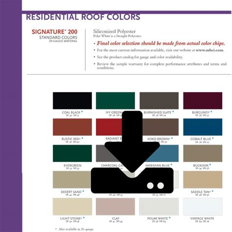 mbci color chart mbci residential color chart steve lanning construction inc