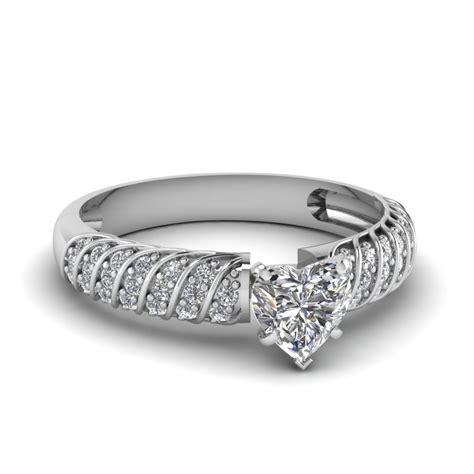 rope design heart diamond engagement ring in 14k white gold fascinating diamonds