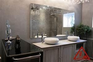 emejing salle de bain beton cire beige photos awesome With beton cire salle de bain