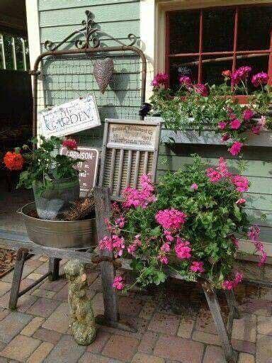 ideas  primitive garden decor  pinterest
