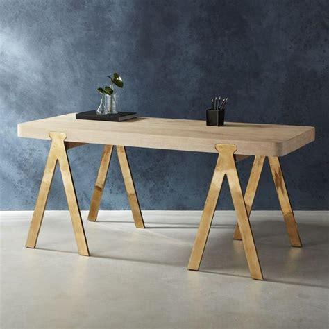 white desk with gold legs chrome sawhorse desk legs hostgarcia