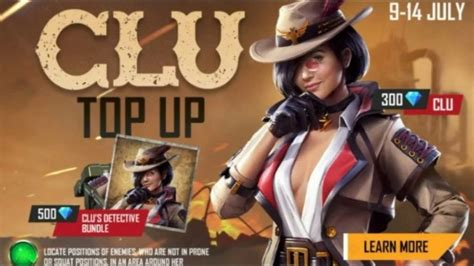 Also read | top five free fire characters in ranked mode. Free Fire Clu Top Up Event - How to Get Clu Character ...