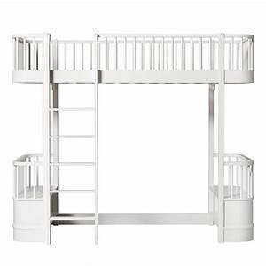 Echelle Lit Mezzanine : lit mezzanine wood avec chelle face blanc oliver ~ Teatrodelosmanantiales.com Idées de Décoration