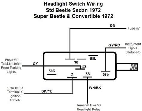 Headlight Switch Beetle Ghia Type