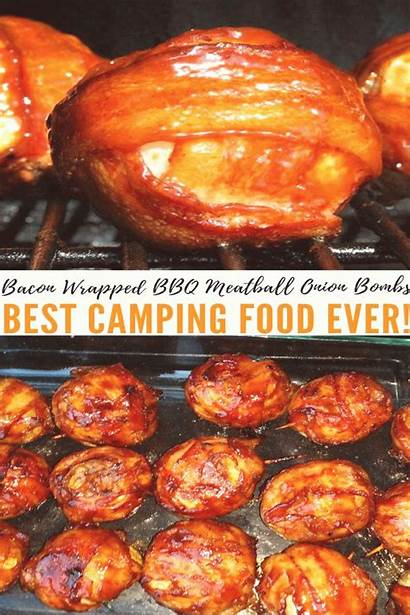 Camping Bacon Meatball Onion Wrapped Bbq Bombs