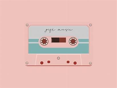 Tape Cassette Dribbble Aesthetic Background Animation Gi