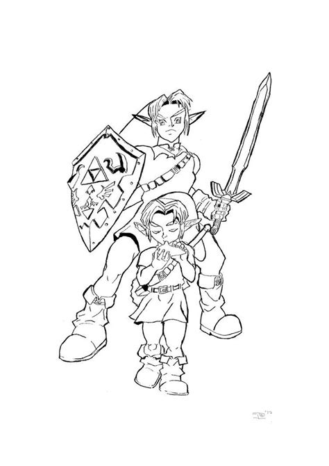 legend  zelda coloring pages az coloring pages