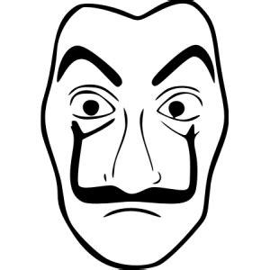 sticker mural casa de papel masque de dali