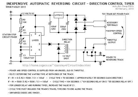 Train Auto Reverse Check Circuit Printables