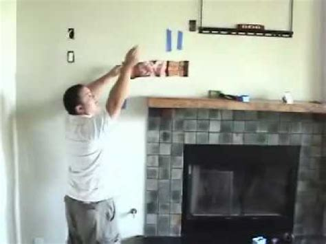 install tv  fireplace pt  install cables youtube