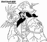 Blackbeard Drawing Beard Getdrawings sketch template