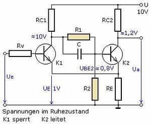 Transistor Als Schalter Berechnen : schmitt trigger mit transistoren ~ Themetempest.com Abrechnung
