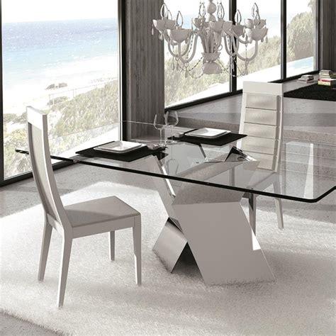 table en verre but table en verre design pied chrom 233 sur cdc design