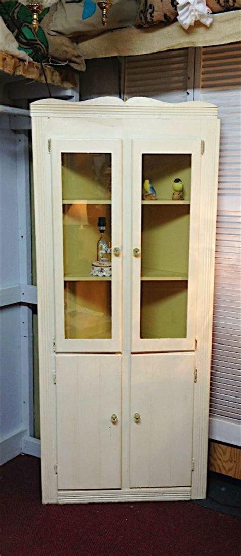 corner kitchen curio cabinet chalk paint corner curio cabinet vintage yellow by 5844