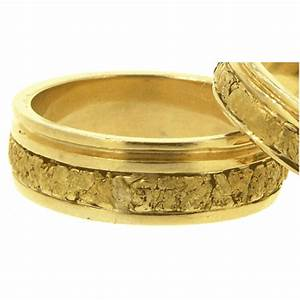 men39s and women39s alaskan gold nugget wedding bands www With gold nugget wedding rings