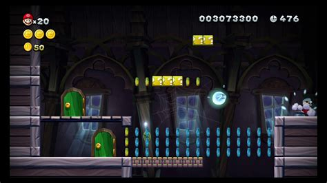 New Super Mario Bros U Frosted Glacier Ghost House Swaying