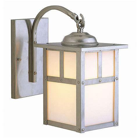 mission style lighting mission style outdoor wall light with white glass