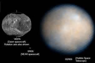 Asteroid Ceres Size Comparison