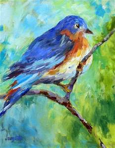 Daily Painters Abstract Gallery: Bird Art Oil Painting ...