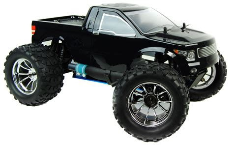 nitro rc monster trucks 1 10 4x4 bug crusher nitro remote control truck 60mph black