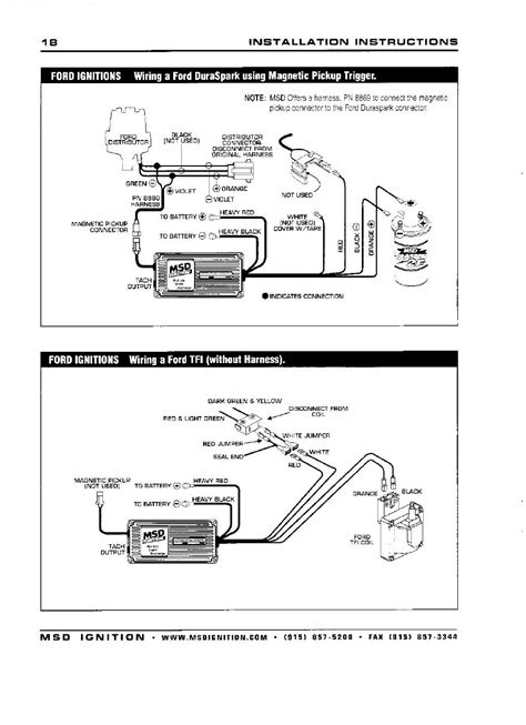 289 ford msd 6al ignition wiring diagram 40 wiring