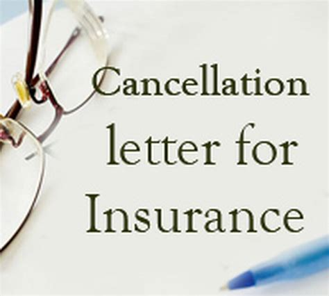 insurance cancellation letter  letters