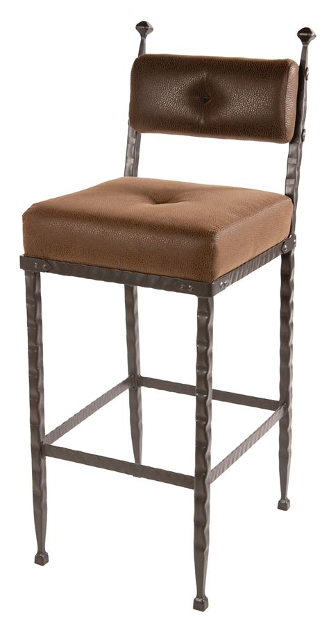 Cushioned Bar Stools With Backs by Forest Hill Iron Padded Back Counter Bar Stool 25 Inch