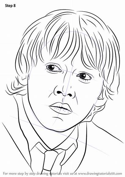 Potter Ron Harry Weasley Draw Step Drawing