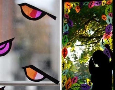 Herbst Fenster Grundschule by Mit Kindern Fensterscheiben Schm 252 Cken Mit Vogel Motiven