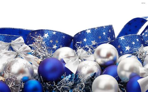 christmas decoration blue blue and silver christmas ornaments wallpaper