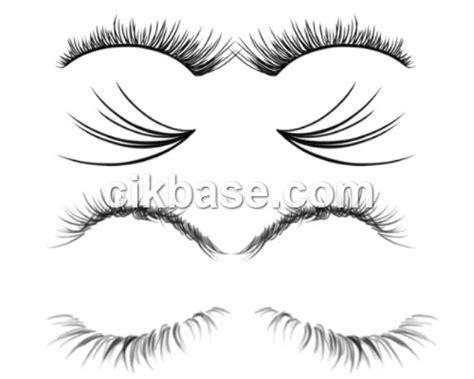 eyelash template 4 realistic eyelash ps brushes psd abr file free vector templates banner illustration