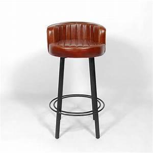 Tabouret de bar industriel diner Made in meubles
